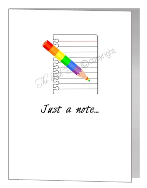just a note - rainbow pencil card