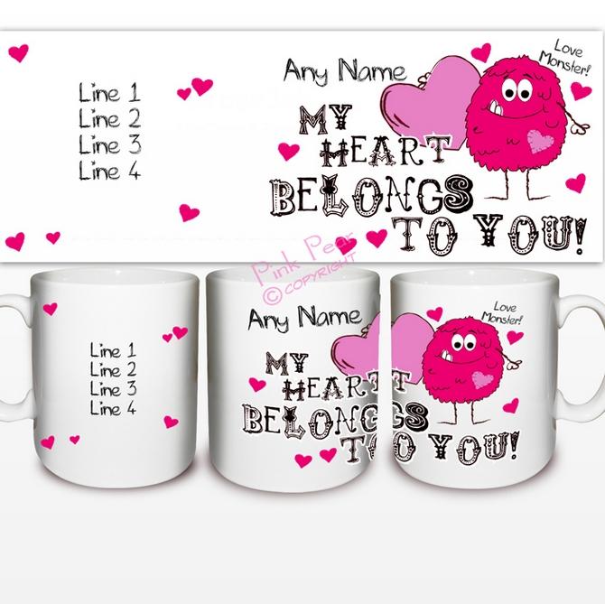 monster heart mug