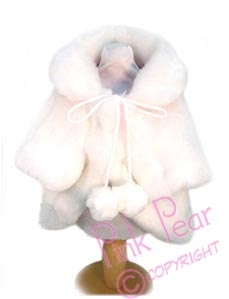 doggie faux fur coat