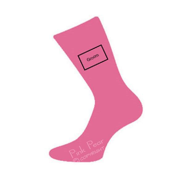 groom socks - hot pink