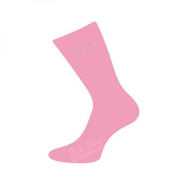 bride socks - diamante