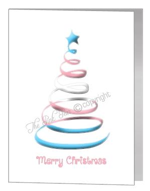 transgender swirl christmas tree card