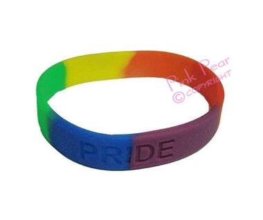 pride silicon bracelet - embossed