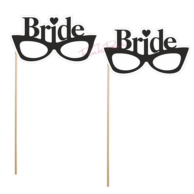 glasses photo props - brides