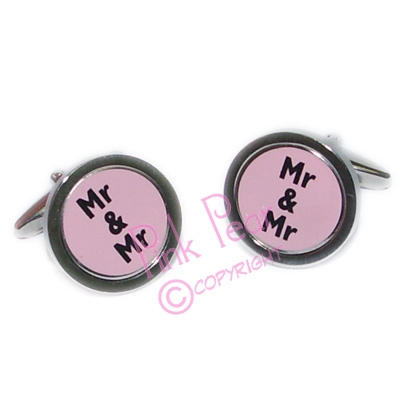 mr & mr cufflinks - black