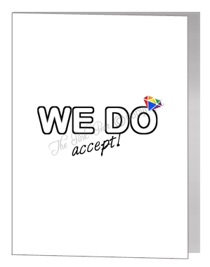 civil partnership acceptance we do card