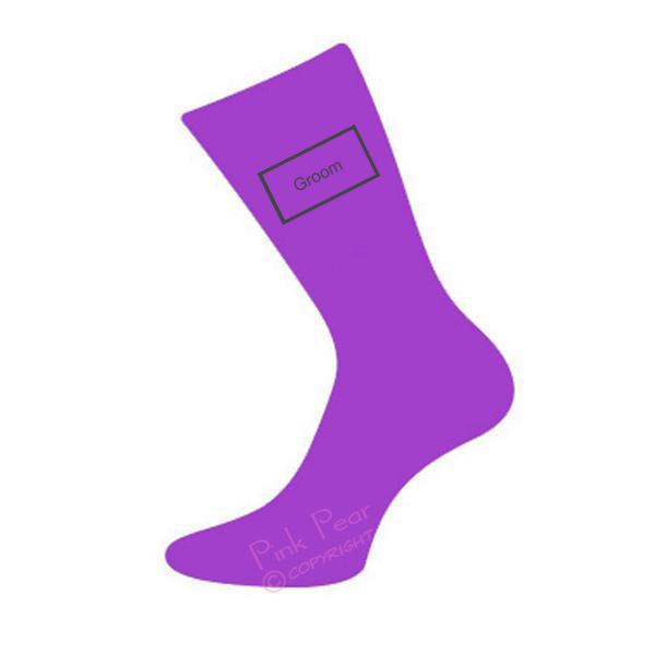 groom socks - purple