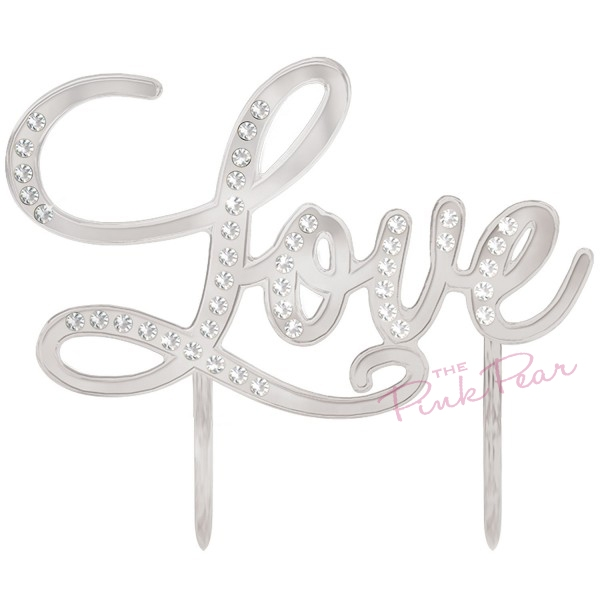 acrylic 'LOVE' cake topper