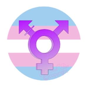 super size transgender button badge
