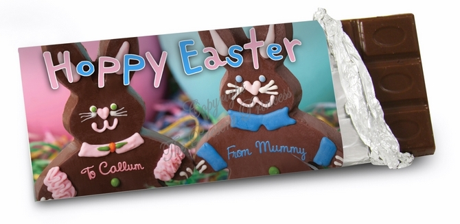 Chocolate Easter Rabbit Chocolate Bar