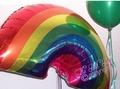 giant rainbow balloon