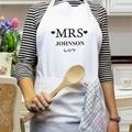 mrs & mrs apron set