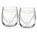 swarovski heart whisky glasses