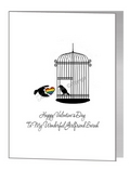 valentine card - lovebirds cage