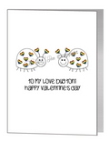 valentine card - love bugs