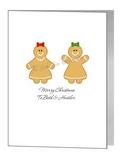 lesbian gingerbread women couple - pride xmas