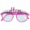 hen night glasses with eyelashes