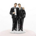 black suit grooms cake topper