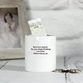 personalised ceramic bow tie wedding money box