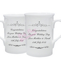 ornate swirl mug set - mr & mr
