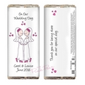 cartoon wedding chocolate bar - mrs & mrs