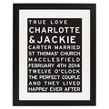 personalised typography framed print