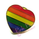 rainbow heart lapel pin