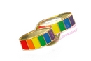 rainbow wedding rings lapel pin