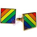 rainbow cufflinks