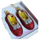 christmas tree ruby slippers decoration