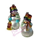 pride snowman xmas ornament