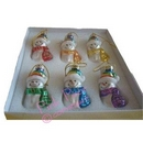 pride snowmen baubles (set of 6)