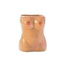 female torso shot glass