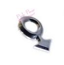 silver gay symbol nose stud