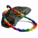 silk rainbow friendship bracelet