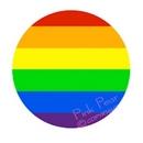 super size rainbow button badge