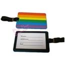 rainbow luggage tag