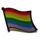 rainbow flag lapel pin - wavy