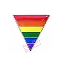 rainbow flag lapel pin - triangle