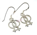 lesbian double symbol earrings
