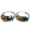rainbow rings hoop earrings
