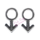 male gay symbol stud earrings