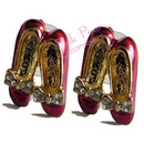 ruby slipper stud earrings (pair)
