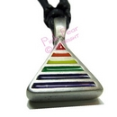 triangle rainbow pendant