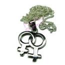lesbian double symbol pendant