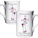cartoon wedding mug set - mrs & mrs