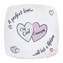 perfect love civil ceremony decorative plate