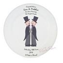 personalised cartoon grooms wedding plate