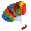 gay pride feather fan