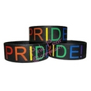 pride wide silicon bracelet - black